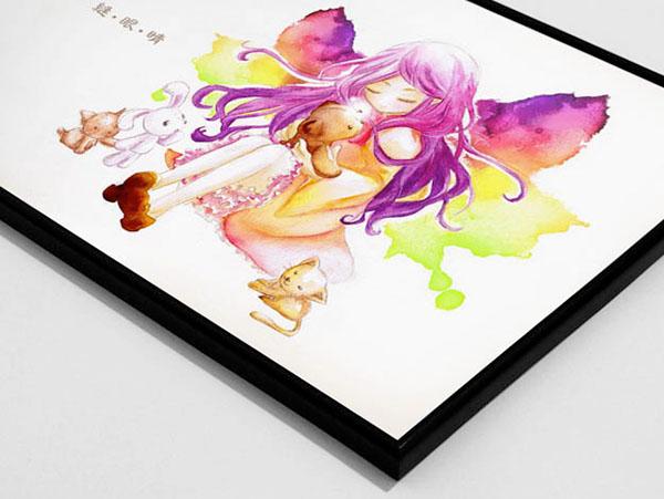 watercolor children illustration