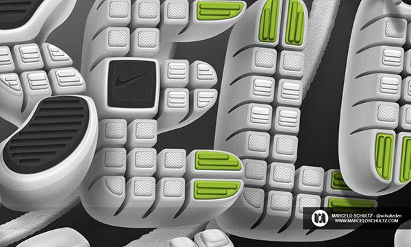 type design photoshop Nike free run shoes brand running adobe 3D tshirt shirt Clothing