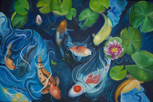 Koi Drawings Paintings Images