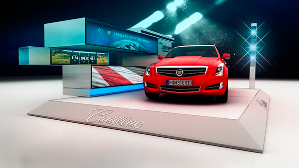 Cadillac Hot Spot Car Display On Behance - Car display