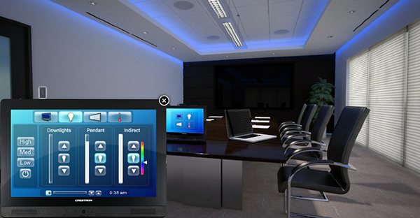 Crestron Interactive Boardroom Gui On Behance