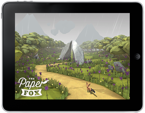 paper FOX The Paper Fox app ios game iPad paper-craft