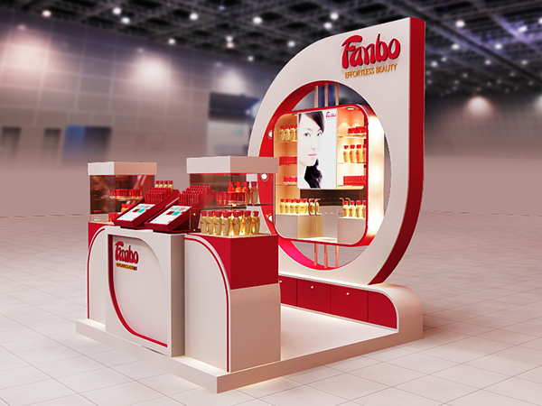 Exhibition Stall Design Templates : Fanbo cosmetics on behance