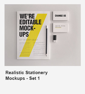 Realistic Stationery Mock-Up Set 1 - Corporate ID - 25