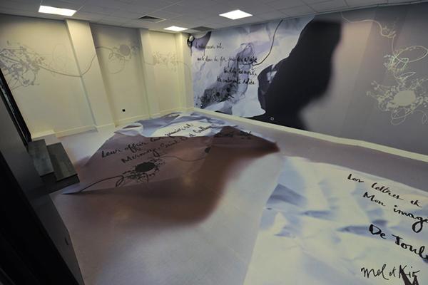 mel et kio wall design design mural hotel Champs-Elysees latecoere centraliens