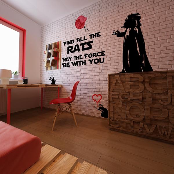 Banksy Star Wars Room On Behance