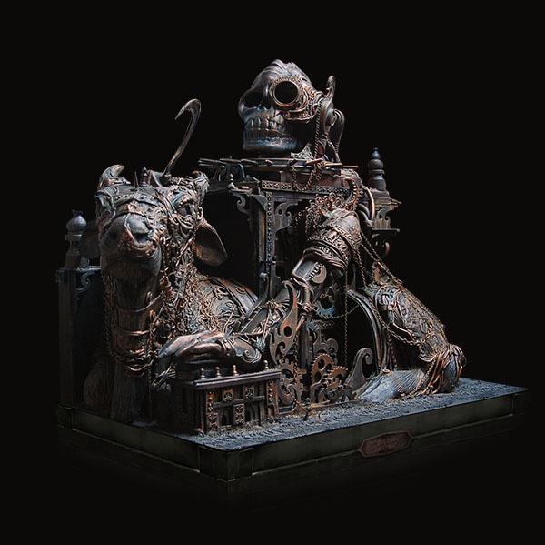Assemblage. sculpture STEAMPUNK surreal visual art mixed media Ancient alien spiritualism