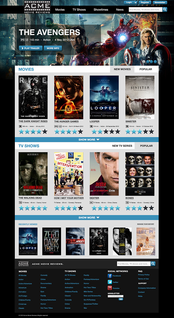 how to make a movie review website