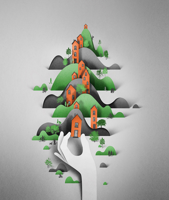 Paper Illustrations by Eiko Ojala