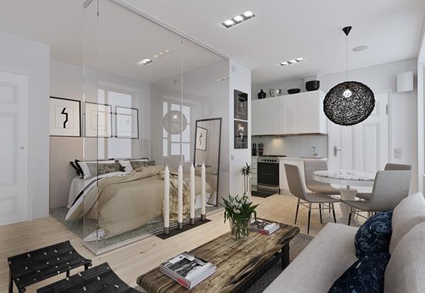 3d max corona design inteior Scandinavian architecture visualisation black & white archiviz visualisation