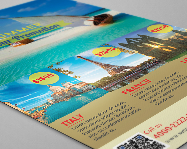 summer tour promotion flyer free psd template download on pantone