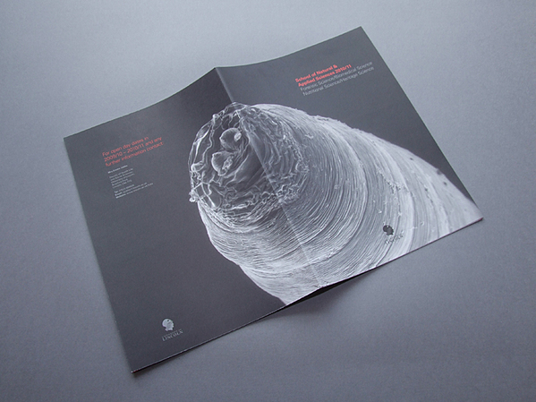 graphic science prospectus brochure Booklet University lincoln uncoated a4
