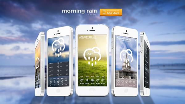 weather  app  Application  user interface  simple  clean  elegant
