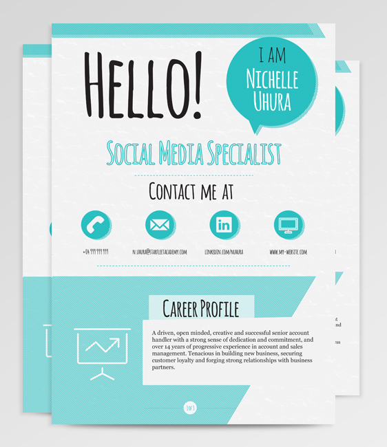 Berenices resume template on behance pronofoot35fo Images