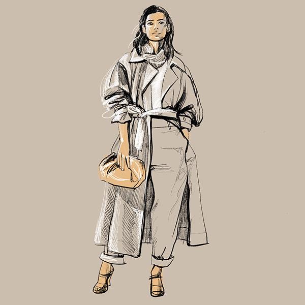 Girl in trench coat H&M