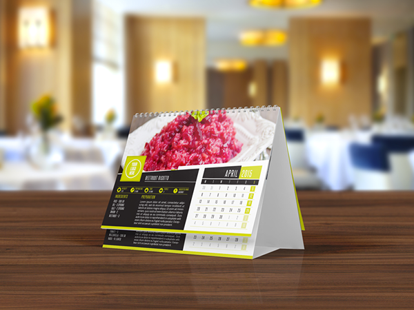 Elegant Desk Calendar Design : Elegant recipes desk calendar template on behance