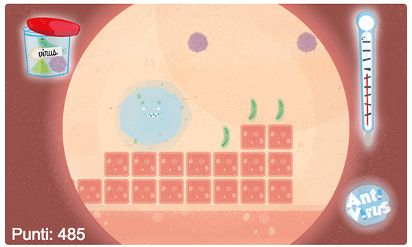 Antibiotic  game crabtoon design flat html5 virus antivirus color mission