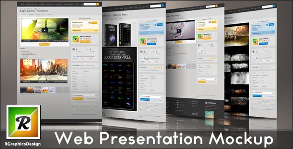 Web Presentation Mockup on Behance