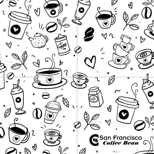 Coffee Bean Drawing Thank You