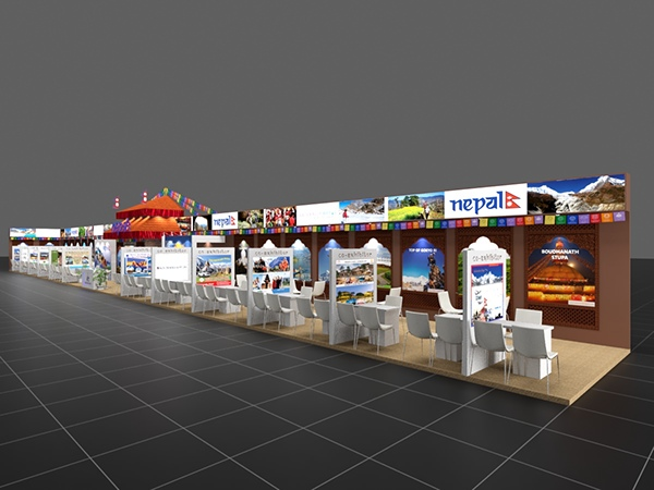 Tourism Exhibition Booth Design : Nepal tourism at itb berlin on pantone canvas gallery