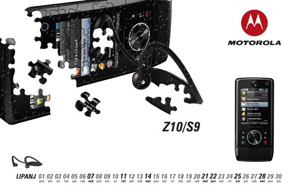 calendar motorola graphic photomontage cell phone industry mobile