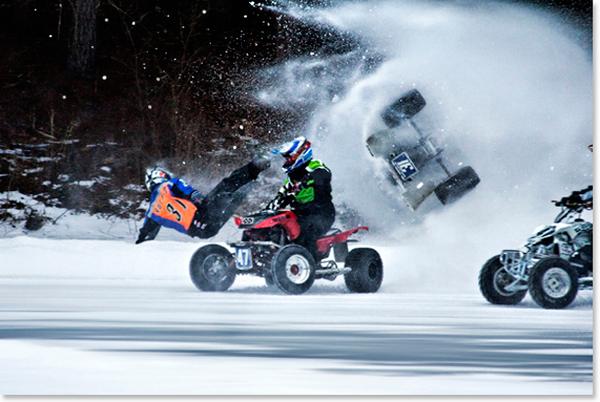 ice racing motor sports extreme sports winter ATV ice racing
