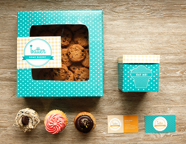 Packaging design inspiration #16 - Batter Home Bakery by Moving Things Design Co.