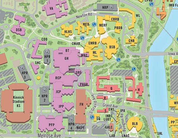 university of iowa map of campus Univ Of Iowa Campus Map On Behance