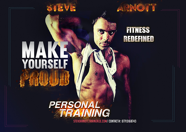 personal trainer flyer on pantone canvas gallery