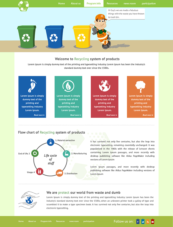 recycle template on behance