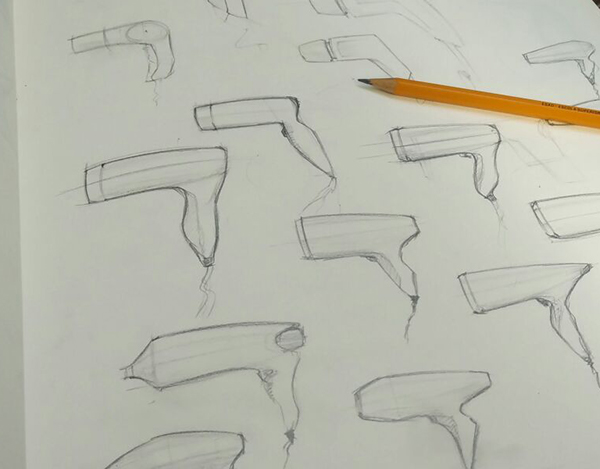 Hair Dryer Concepts And Sketches On Student Show