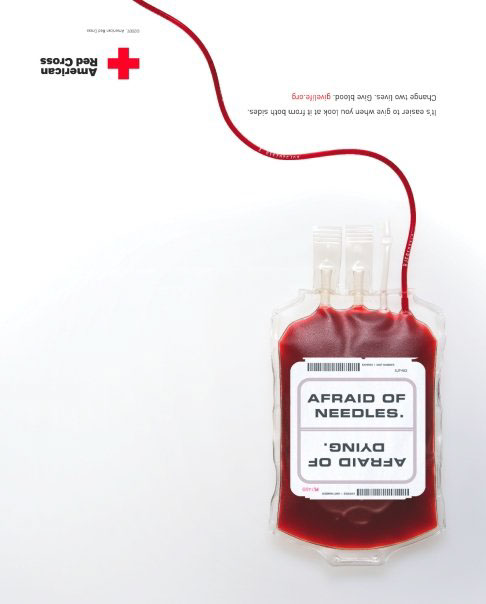 Red Cross blood donation blood bags print
