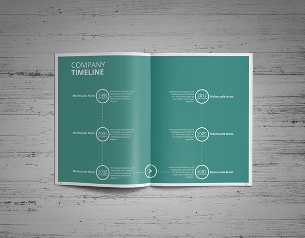 simple annual report template on student show