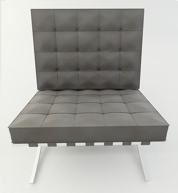 Barcelona Chair 3d Model On Behance