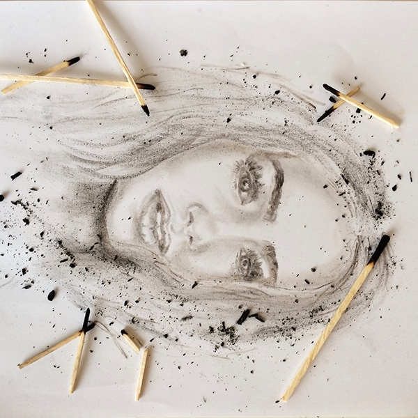 Portraits Using Non-traditional Mediums On Behance