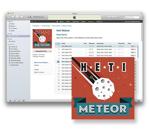 meteor podcast Space