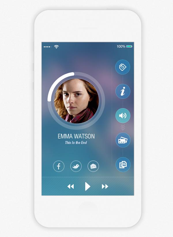 creative ios8 photoshop ios app concept flat portfolio UI ui design ux simple android apple application