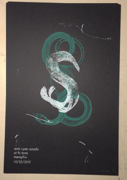screen printed gig poster
