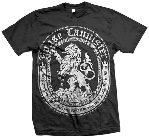 House Lannister Game Of Thrones T Shirt Design On Behance
