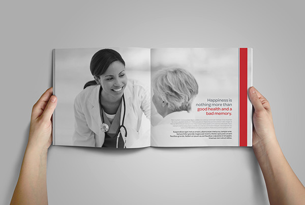 medical healthcare hospital clinic doctors Health medicine corporate company profile brochure square design Caretakers patients
