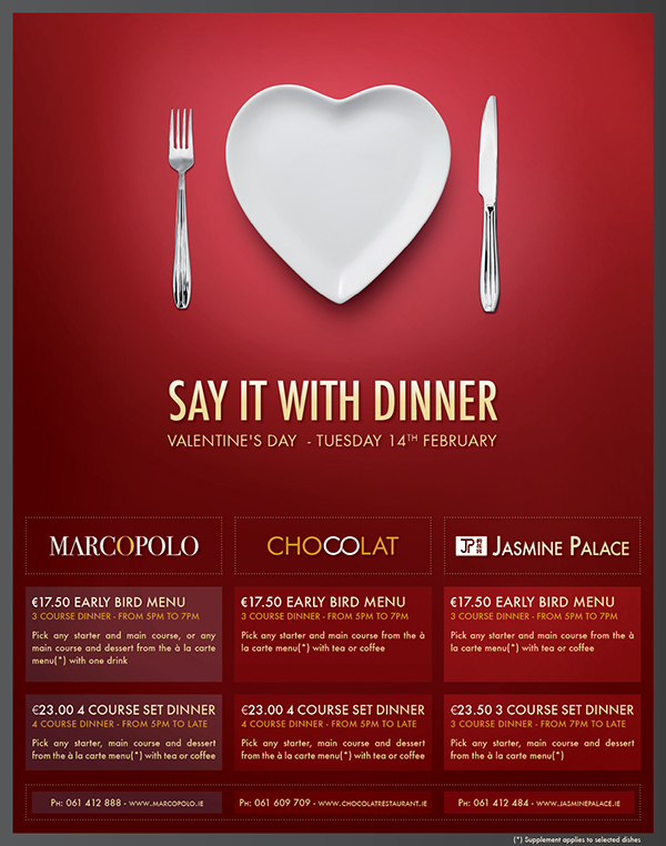 restaurant print advertisement valentine's day on behance, Ideas