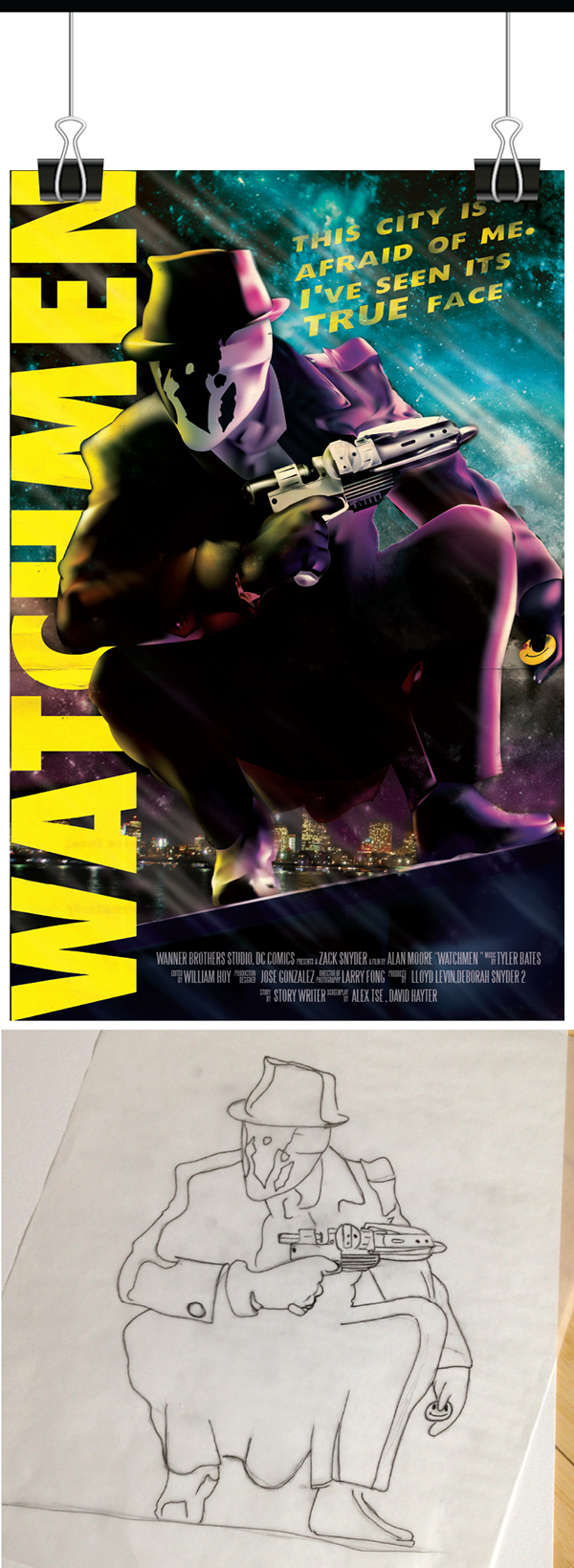 watchmen rorschach poster on wacom gallery