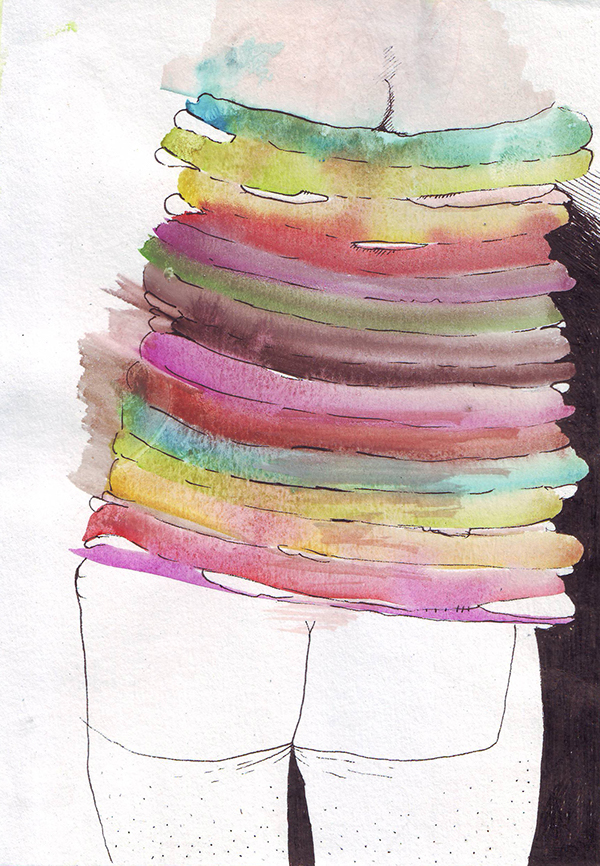 color drawing watercolor spray pen paper illustrations