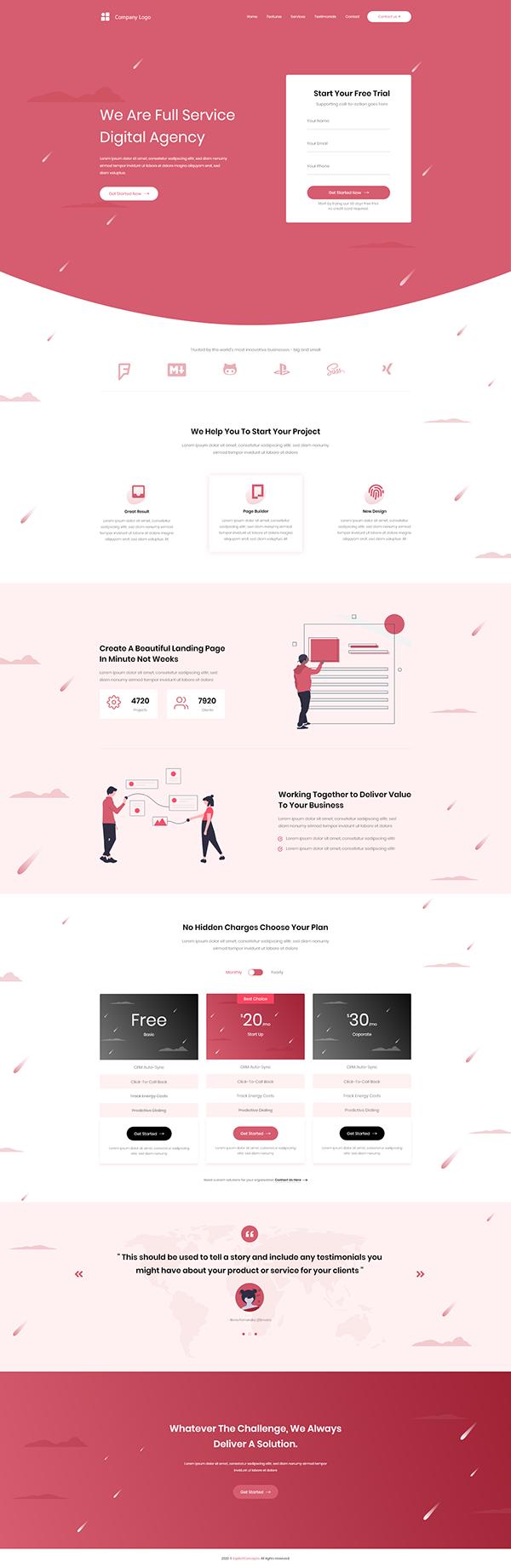 Minimal Web UI Design - Practice 3