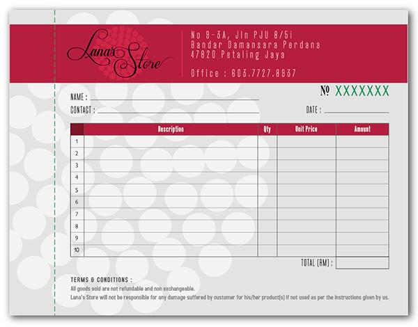 LANAS STORE on Behance – Receipt Design