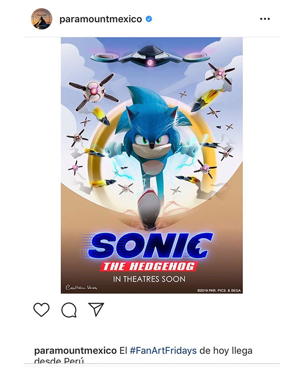 Official Paramount Pictures Sonic Movie On Pantone Canvas Gallery
