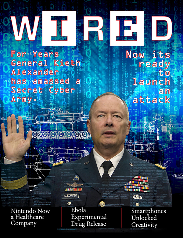 Wired Magazine Cover on Student Show