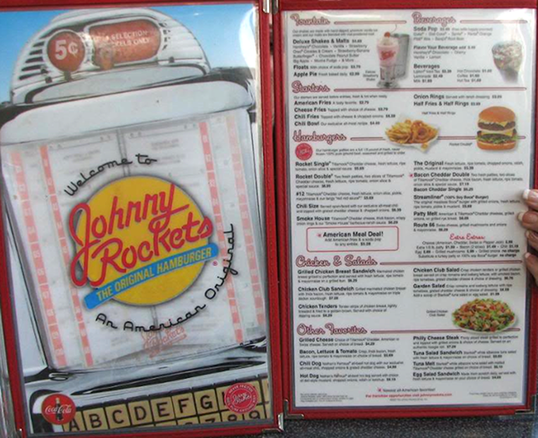 Johnny Rockets Menu on RISD Portfolios