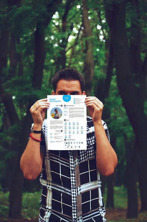 CV Resume sergio printable free Unusual creative