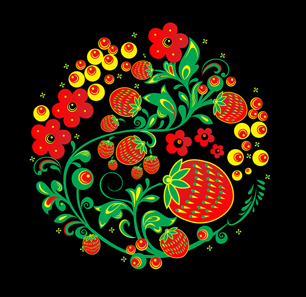 "Russian traditional ornament ""Hohloma"" on Behance"